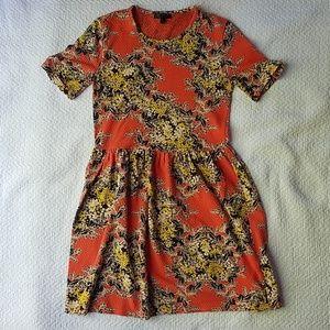 Modcloth Floral Skater Dress